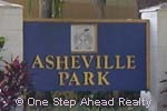 sign for Asheville Park