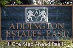 sign for Addington Estates East of Lake Charleston