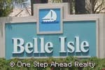 sign for Belle Isle