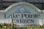 sign for Lake Pointe Estates